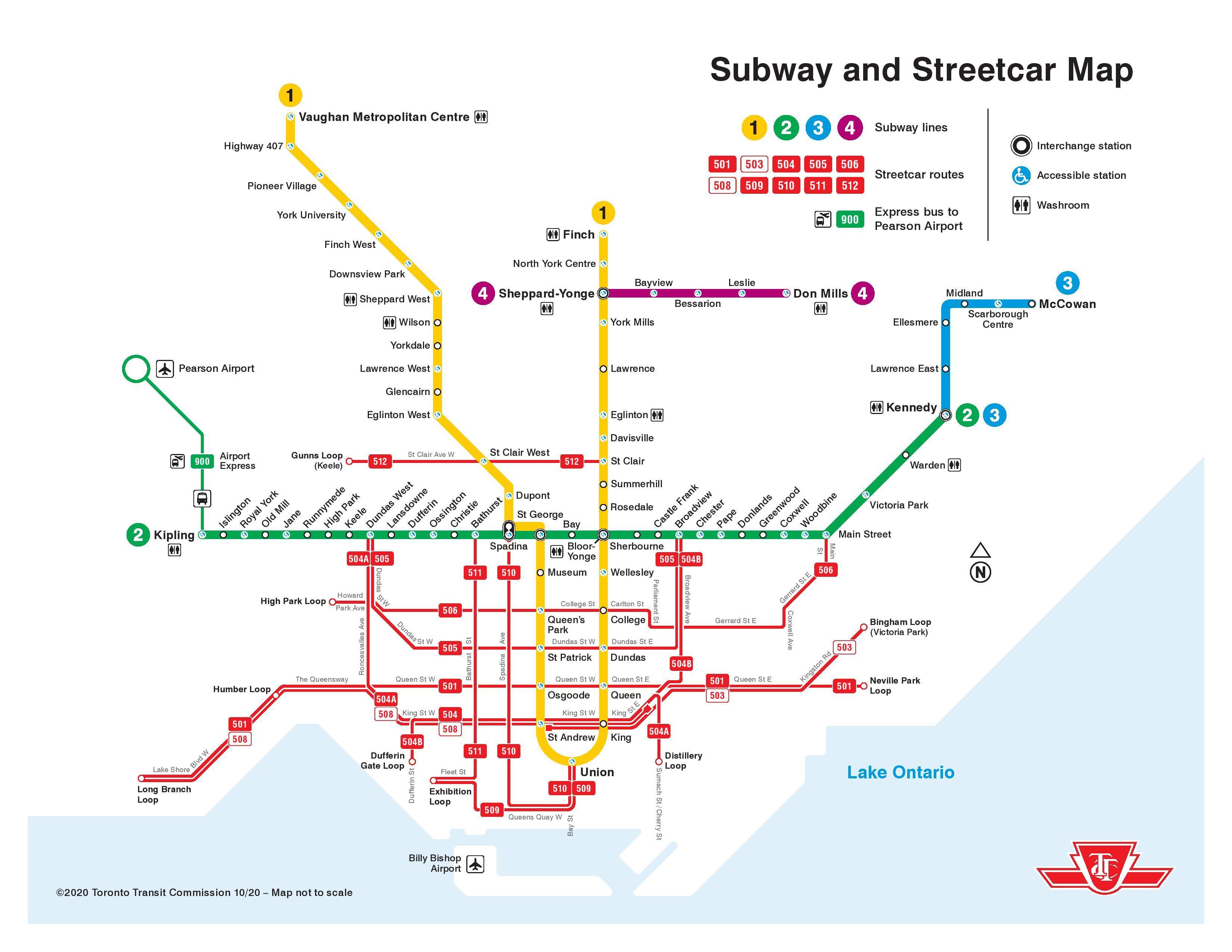 Kanada Karta Svijeta.Tramvaj Karta Toronto Toronto Tramvaj Kartici Kanada