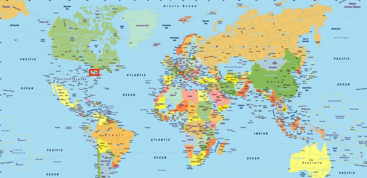 Kanada Karta Svijeta.Toronto Na Karti Svijeta Karta Svijeta U Toronto Kanada